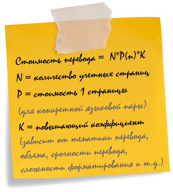 Цены на услуги перевода в бюро переводов Райтворд